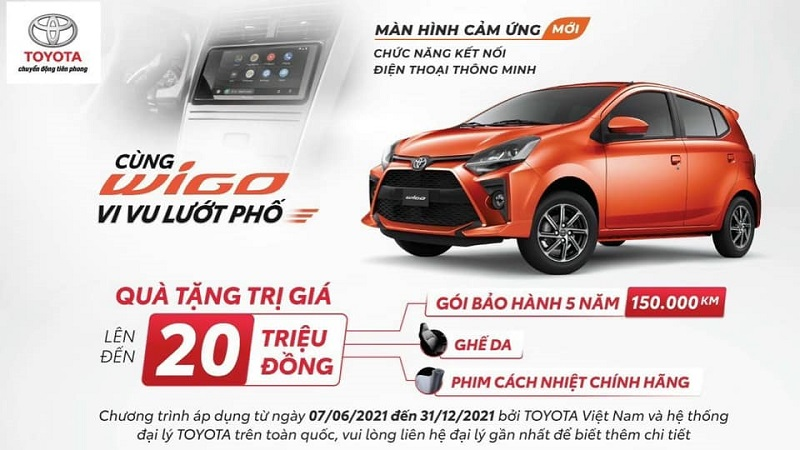 Toyota Wigo 2021 KHUYẾN MÃI SIÊU HẤP DẪN