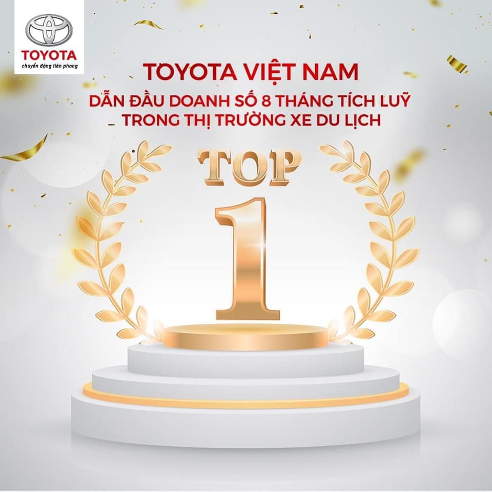 Toyota Việt Nam dẫn đầu doanh số 8 tháng đầu năm